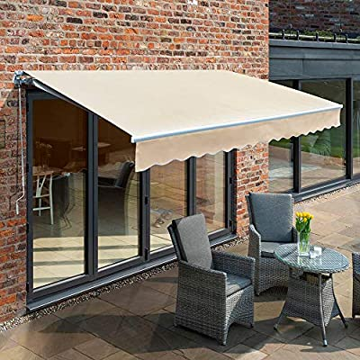 Primrose 3 5m Electric Awning Ivory Mayfair Diy Patio Awning Gazebo Canopy 11ft 6 Complete With Fittings Remote Control And Winder Handle Amazon Co Uk Garden Outdoors