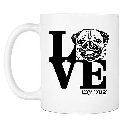 amazon com love pug gifts coffee mug novelty birthday gift for