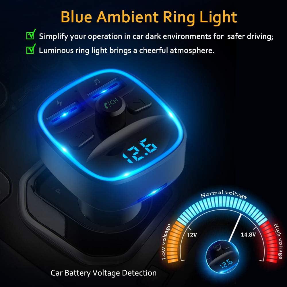 Blue Car Kit Lecteur MP3 Transmetteur FM Modulator SD USB LCD avec t/él/écommande