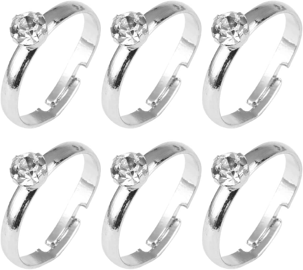 72 unids Anillos de Compromiso de Diamantes de Plata para Bodas Decoraciones de Mesa Acentos de Fiesta Dispersos de Mesa Cake Toppers