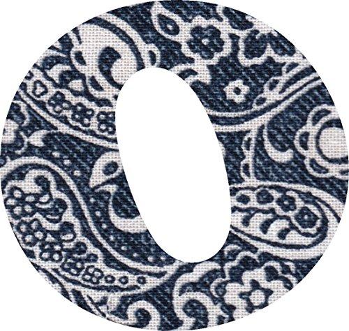 ペイズリー柄 生地 アルファベット O アップリケ ネイビー アイロン接着可能 大文字 3cmの商品画像