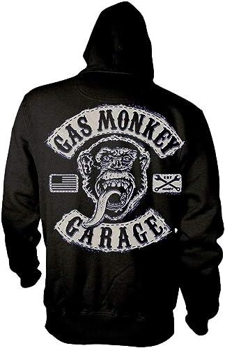 Gas Monkey Garage Hoodie GMG Logo Kustom Builds new Official Mens Black Zipped