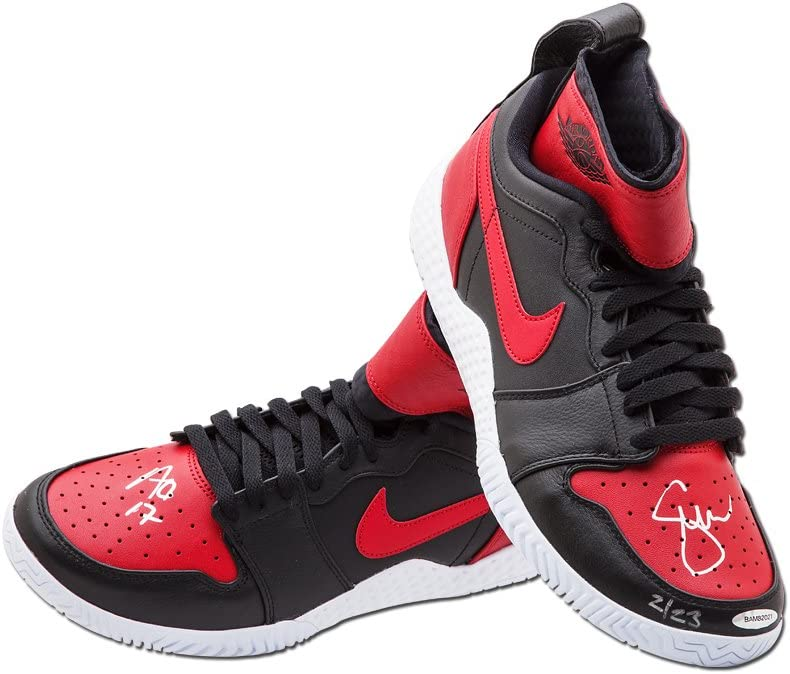 navegador montar Tranquilidad  SERENA WILLIAMS BLACK & RED NIKE FLARE SHOES INSCRIBED AUSSIE OPEN '17