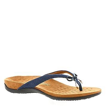 a0a57695b Vionic Womens Bella II Toe Post Orthotic Arch Support Flip Flop Sandal Denim  UK4   EU37