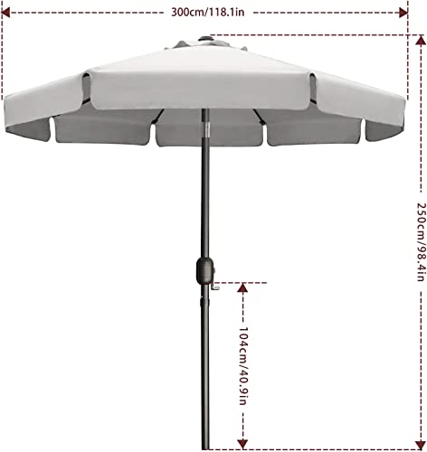 MASTERCANOPY Valance Patio Umbrella OutdoorMarket Table Umbrella