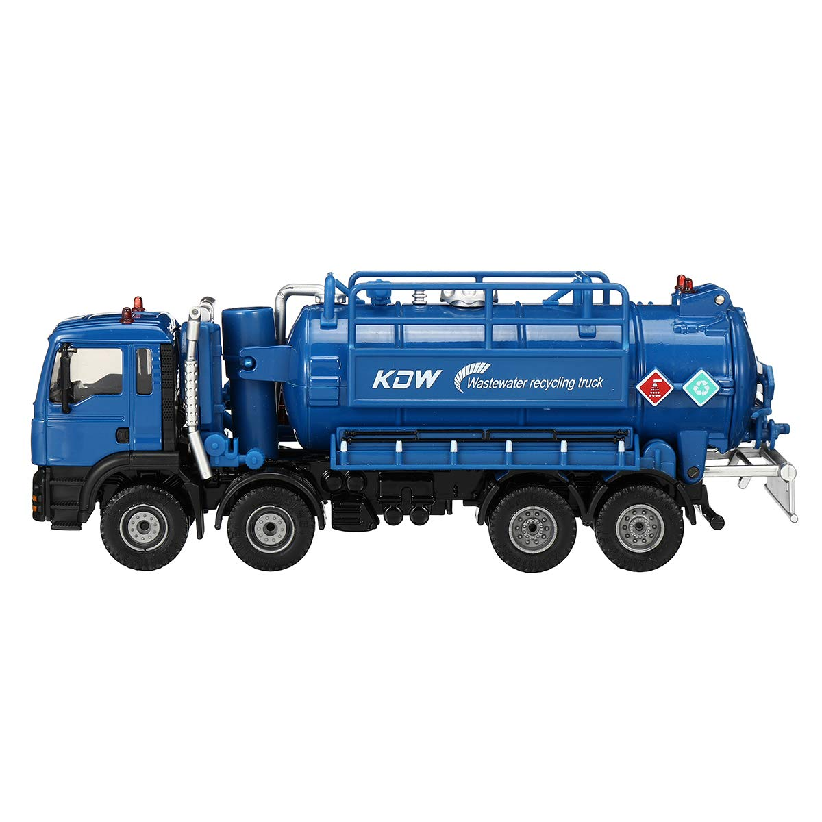 Sevenmore Suction Sewage Truck 1:50 Scale Diecast Model Vacuum Sewage Waste Water Suction Truck Model Toy Shipping Model