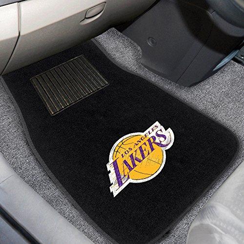 FANMATS 17608 NBA Los Angeles Lakers 2-Piece Embroidered Car Mat