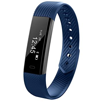 Ginsy Fitness Tracker Smart Wristband With Touch Screen Sleep