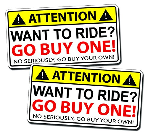 Funny Warning Sticker Decal Laugh product image