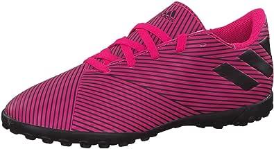 Adidas Nemeziz 19.4 Contrasting Faux Leather Side-Stripe Football Athletic Turf Shoes for Boys