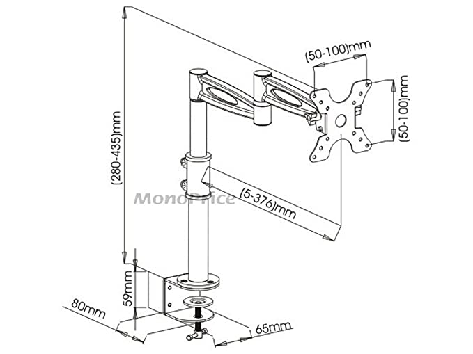 Amazon Com Monoprice 105402 3 Way Adjustable Tilting Monitor Desk