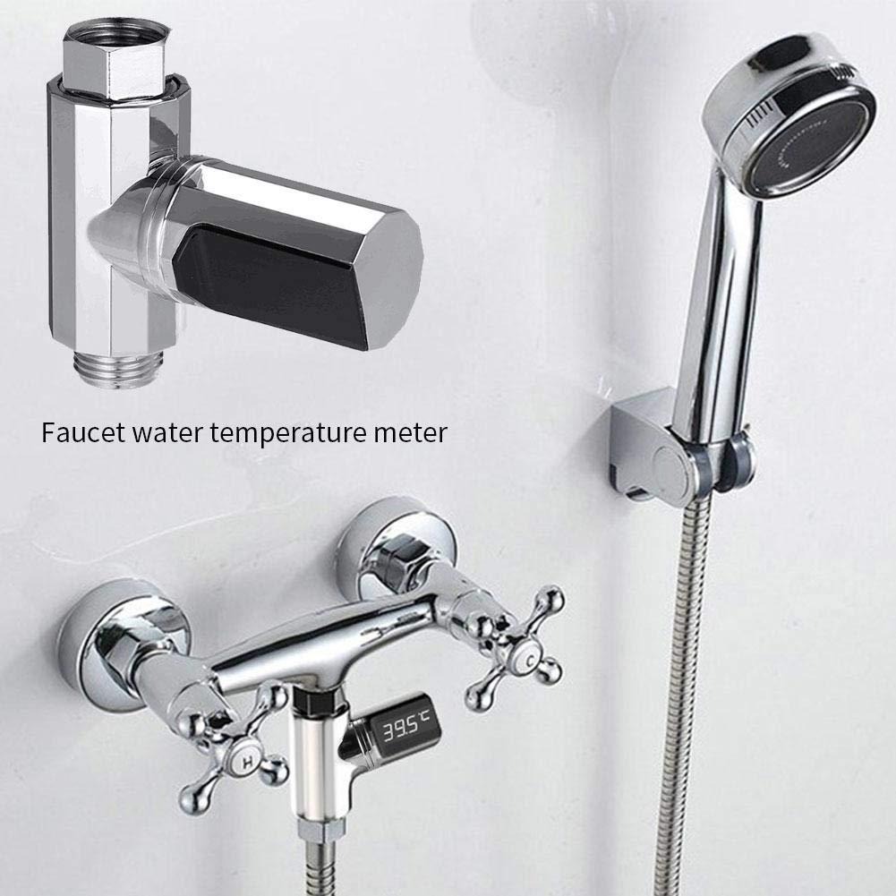 Genekun Bathroom Thermometer Bath Temperature Tester Thermometer Water Temperature Indicator LED Water Temperature Meter Ideal Digital Meter for Drinking Water by Genekun