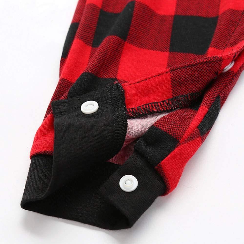 Mumetaz Plaid Christmas Family Matching Pajamas Set Sleepwear Pjs Clothes