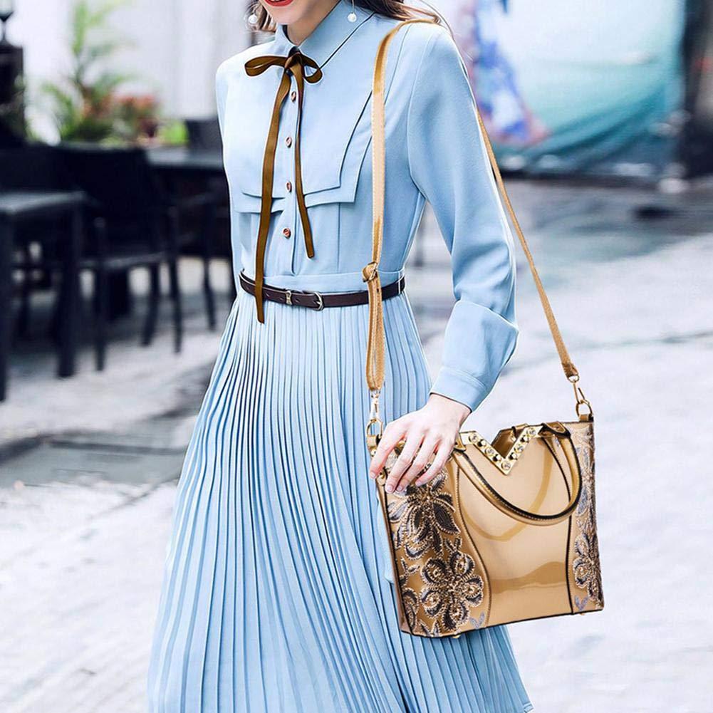 69cf9b4fdf56 Amazon.com: elec tech Women Handbags Wallet Luxury Sequin Embroidery ...