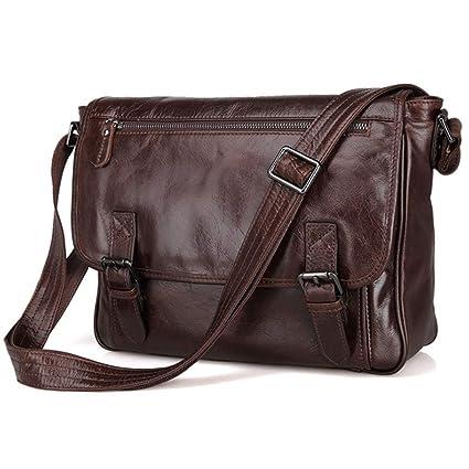 76f3ce29894a Amazon.com: RXF Leather Shoulder Bag Casual Messenger Bag Men's ...