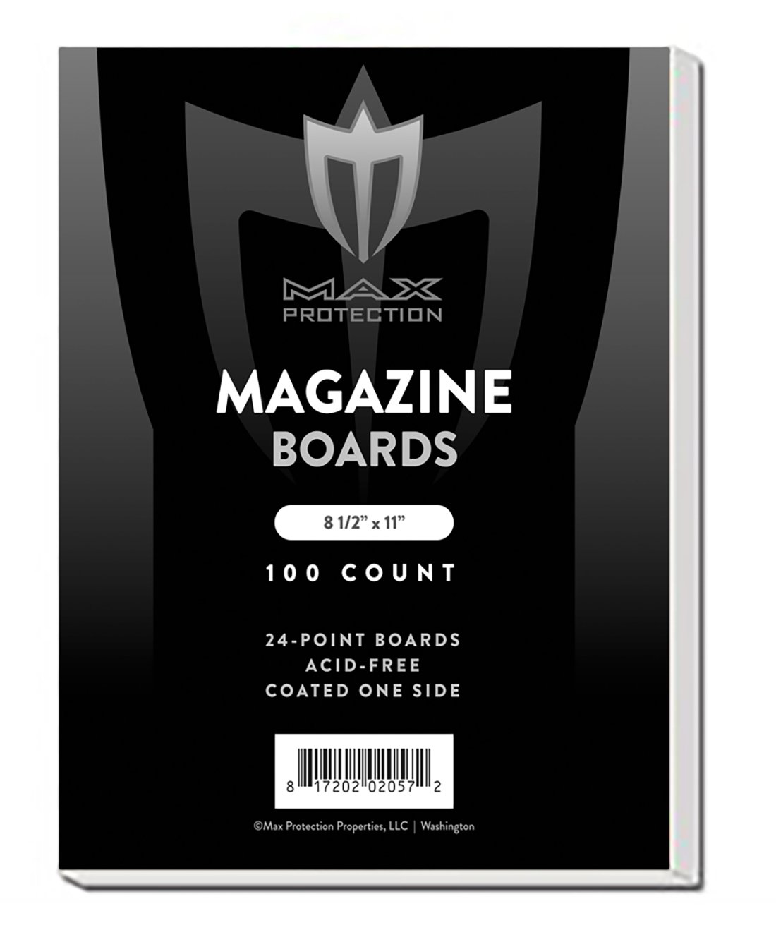 1000 MAGAZINE Size White Comic Backing Boards by Max Pro (8.5'' x 11'') - Protect your MAGAZINES From Bending!