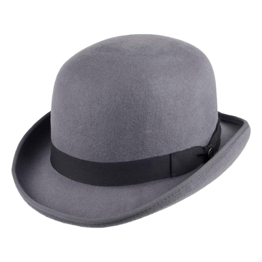 Jaxon & James Wool Felt English Bowler Hat - Grey