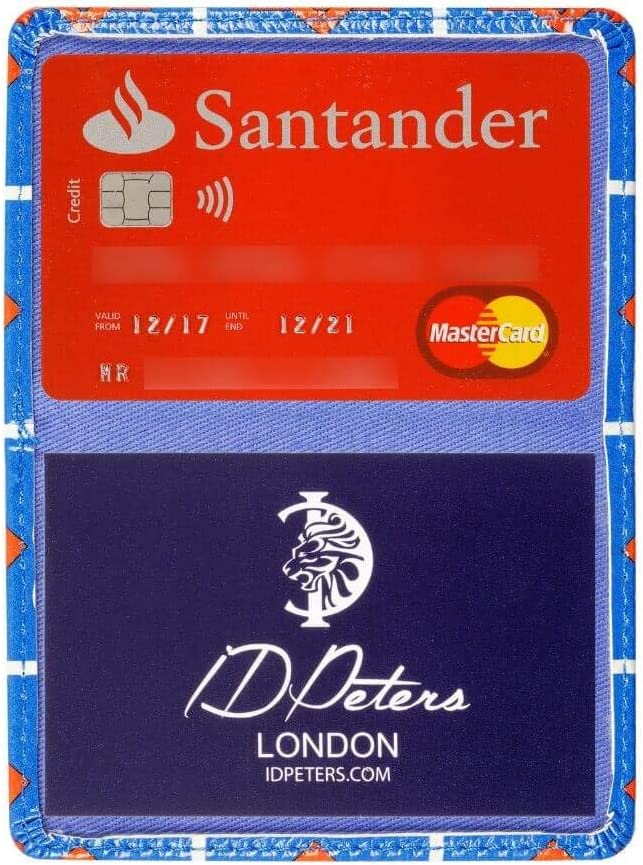 Compact and Oyster Card Machine Compatible Blue Travel /& Credit Card Holder Premium Card Holders 2 Fold Business by London Based UK Brand