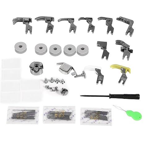 17 Sets Kit de Pies Prensatelas para Máquinas de Coser Industriales Universales para Brother, Babylock