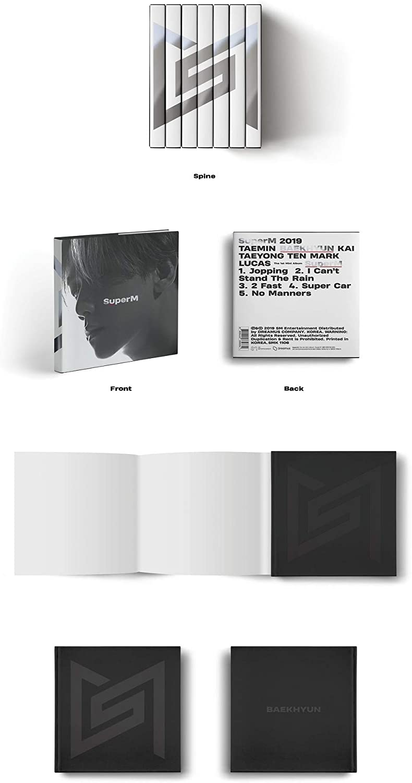 Album+Folded Poster+Extra Photocards Set Taemin ver. 1st Mini Album SuperM Korean Edition SuperM