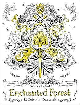 Amazon Enchanted Forest 12 Color In Notecards 9781780677668 Johanna Basford Books