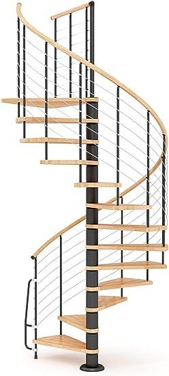 Escalera de caracol de madera mobirolo Vogue Natural y negro varios tamaños: Amazon.es: Bricolaje y herramientas