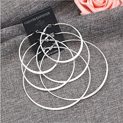 Dolland Fashion Three pairs Big Hoop Earrings Set Jewelry For Women And Gilrls