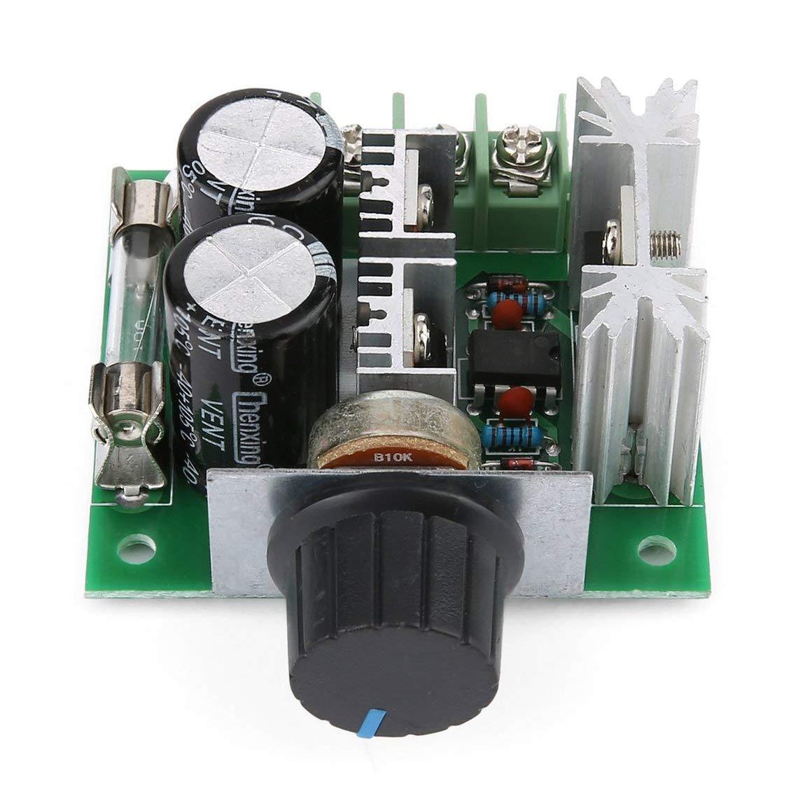 Zinniaya Universal 12V-40V 10A 13khz Modulaci/ón de ancho de pulso PWM DC Motor Regulador de velocidad Controlador Interruptor Negro
