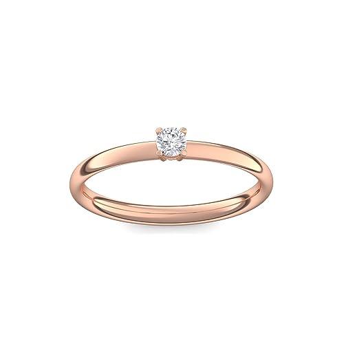 Anillo de compromiso vorst esquina Rojo Oro Anillo Diamante de gran calidad Dorado.