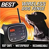 Best Wireless Dog Fence System with Plug n' Play Setup Rechargeable Water Resistant Collar, 2 Acre Range