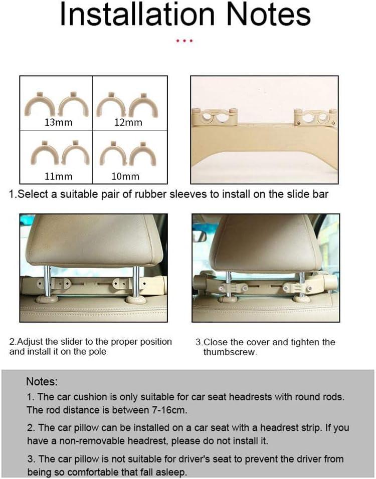 Almohada para Asiento de Coche de Viaje para ni/ños Adultos Mayores rotaci/ón de 180 /° Reposacabezas de Apoyo para el Cuello Suave SOWLFE Almohada para reposacabezas de Coche