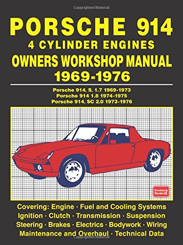 porsche 914 4 cylinder engines owners workshop manual 1969 1976 rh amazon com
