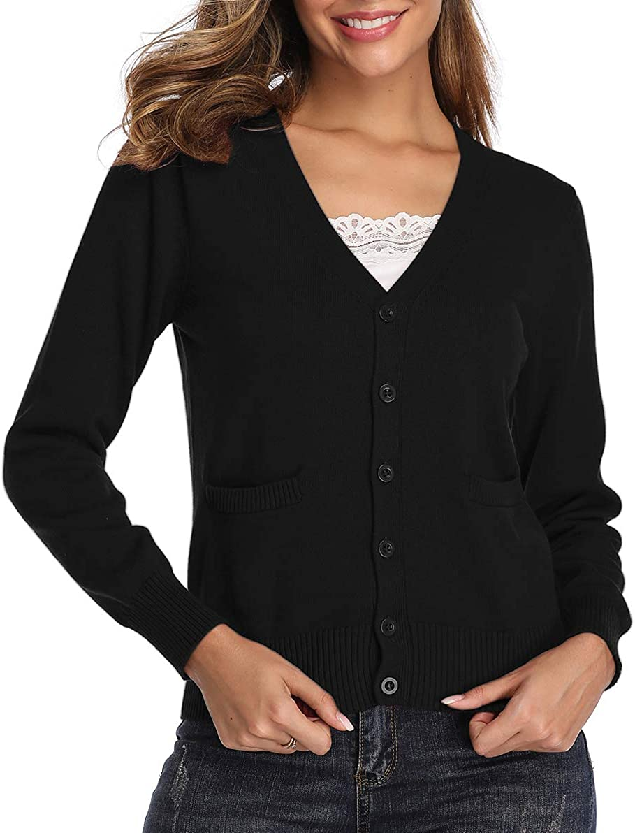 Womens Plus Size Long Sleeve Ladies Stretch Pocket Long Swing Open Cardigan Top