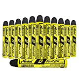 12 Pc Box Black Markal B Paintstiks Crayon Marks Water Oil Dirt Extreme Temp Paint Stick Chalk for Auto Tire Construction Fabric Lumber