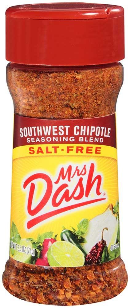 Mrs. Dash Southwest Chipotle Seasoning - 2.5 oz. jar, 12 per case