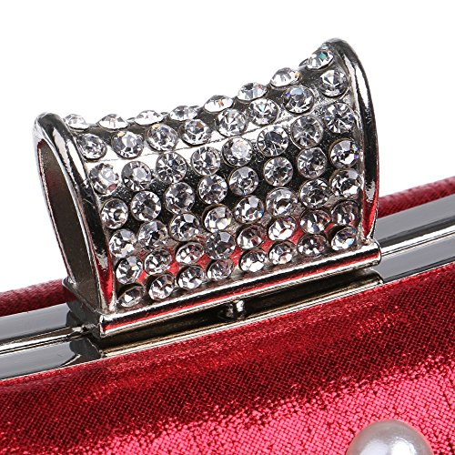 For Bags Mix Evening Color Small Women Evening Bags Bag Handbags Purse Evening Wedding Diamonds Candy red KYS Messenger Beaded t1qfqa
