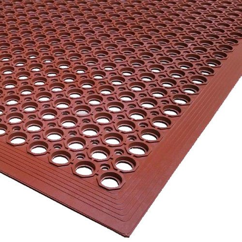 Cactus Mat 2530-R5 Rubber VIP Topdek Molded Bevel Edge Mats Junior Version, 3' x 5', Red