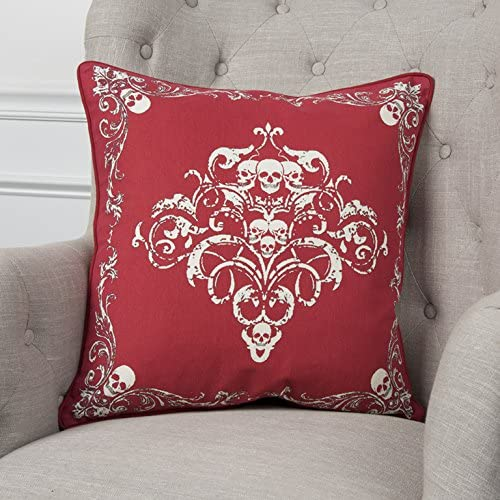 Rizzy Home T10899 Decorative Cotton Poly Filled Throw Pillow 20 x 20 Red White