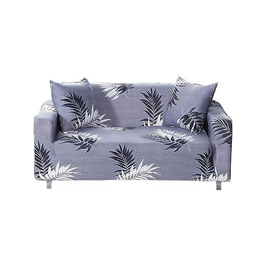 Fundas de sofá elásticas, fundas de sofá de jacquard de hoja ...
