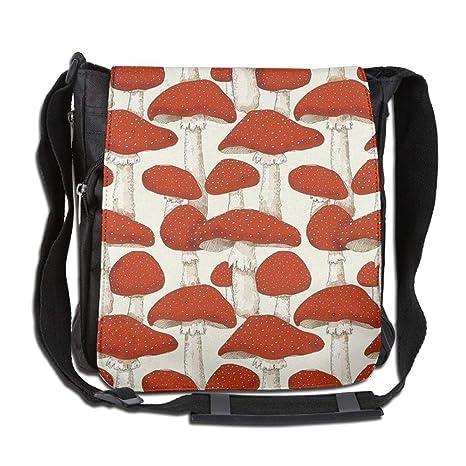 39214a1690fd CUW BBCUW Unisex Classic Satchel Messenger Bags Red Mushroom Forest  Crossbody Shoulder Bag Side Bags for