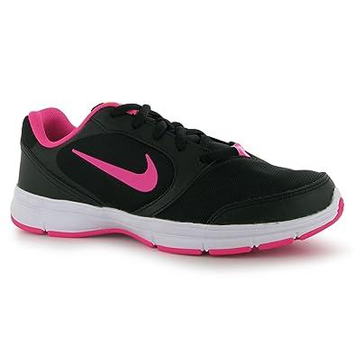 3fb75ab985cf Nike Womens Core Motion Mesh Ladies Trainers Black Pink UK 6 (40)   Amazon.co.uk  Shoes   Bags