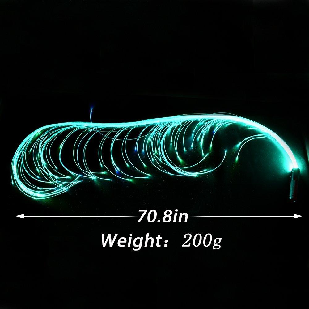 COMLZD 2 Pack Fiber Optic Dance Whip Light-up Led Lights Rave Party for Dancing Party Favor by COMLZD (Image #4)