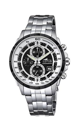 Lotus Hombre Reloj de Pulsera analógico Cuarzo Acero Inoxidable 10130/4: LOTUS: Amazon.es: Relojes