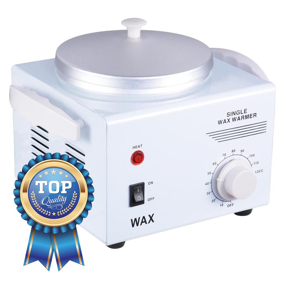 Koval Inc. Deluxe Professional Single Hair Wax Warmer, Electric Wax Heater Machine (White 9L x 7W x 4 3/4H (Single Pot))