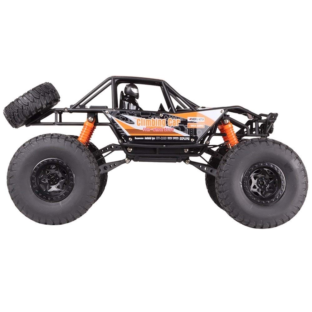 orange PETRLOY Off-road 4WD Big Truck 19inch Large 1 10 Scale Black Model Red Monster Truck Electric Remote Control bluee Toy High Speed Hobby Toys Vehicles Two Packs Battery Birthday Gift for 12-year-old Boy