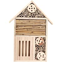 Insect House, DIY Insect Hotel Insect Nesting Box, Hanging Insect House Wood Bug Room, for Outdoor for Home(Section A)