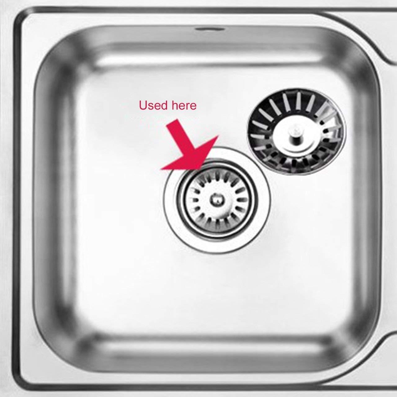 /Éviers de cuisine universels bouchons en acier inoxydable couvercle d/évier Dishpan /égouttoir coche prise filtre de remplacement panier pour le m/énage Jasnyfall couleur acier