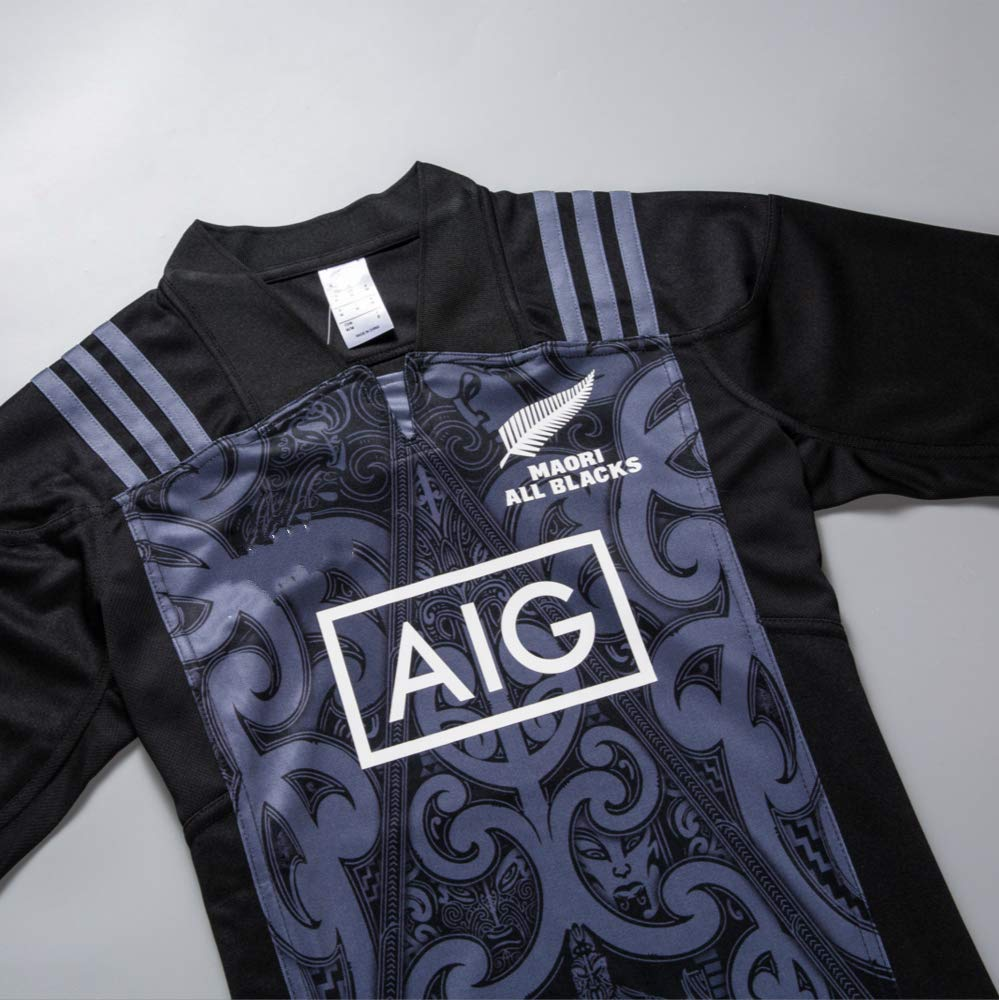 Crbsports Team New Zealand Maori All Blacks Rugby Training Jersey New Fabric Embroidered Swag Sportswear