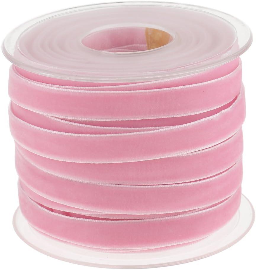 Rodillo Ancho Cinta de Terciopelo 20 Yardas 10mm Accesorios para Arte Durable Multiusos - Rosa: Amazon.es: Hogar
