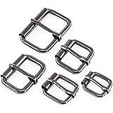 Swpeet 50 Pcs Assorted Multi-Purpose Gun Black Metal Roller Buckle Ring for Hardware Belt Bags Ring Hand DIY Accessories…